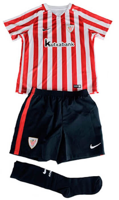 ee429d07f65 Athletic Bilbao Little Boys Home Football Kit 2016 17 In Stock Now