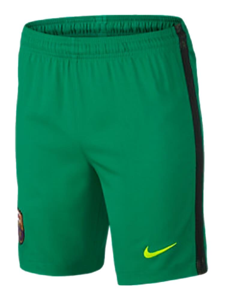 purchase cheap 5d005 c81c2 Barcelona Kids Away Goalkeeper Shorts 2016/17