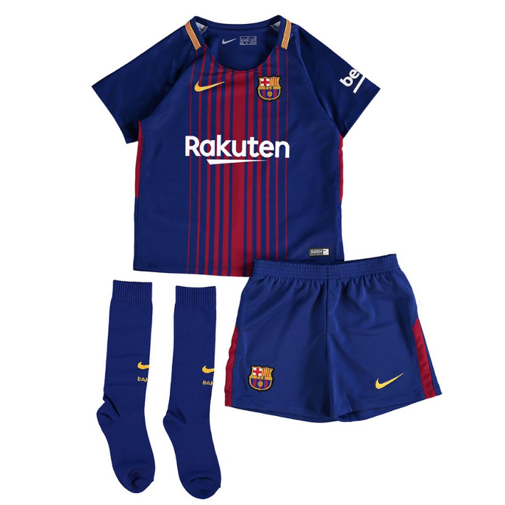 f09c3d8af3f Launched by Nike Barcelona Kids Home Kit 2017 18