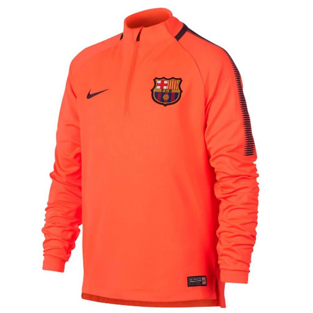 buy cheap dff59 551c0 Barcelona Kids Squad Drill Top 2017/18 (Orange)