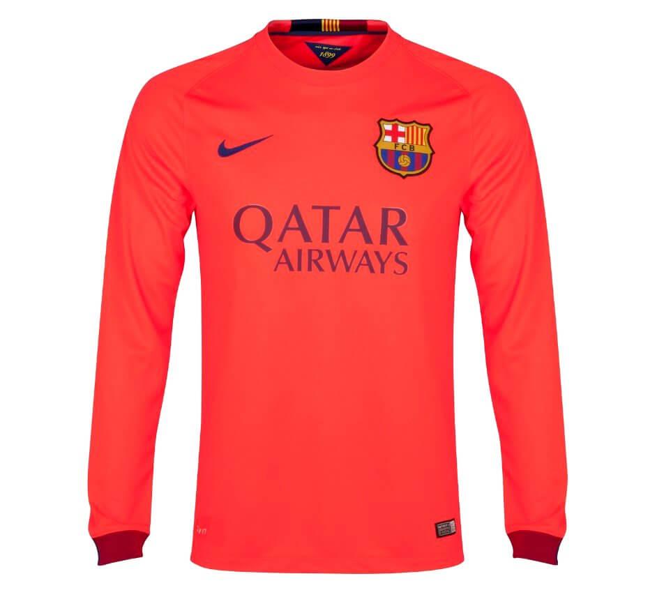 finest selection f8df1 43da8 Barcelona Long Sleeve Away Jersey 2014 - 2015