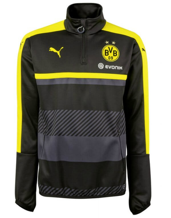 Borussia Dortmund 1 4 Zip Top 2016-17 (Black) - Buy Today! 7b04c7bf5