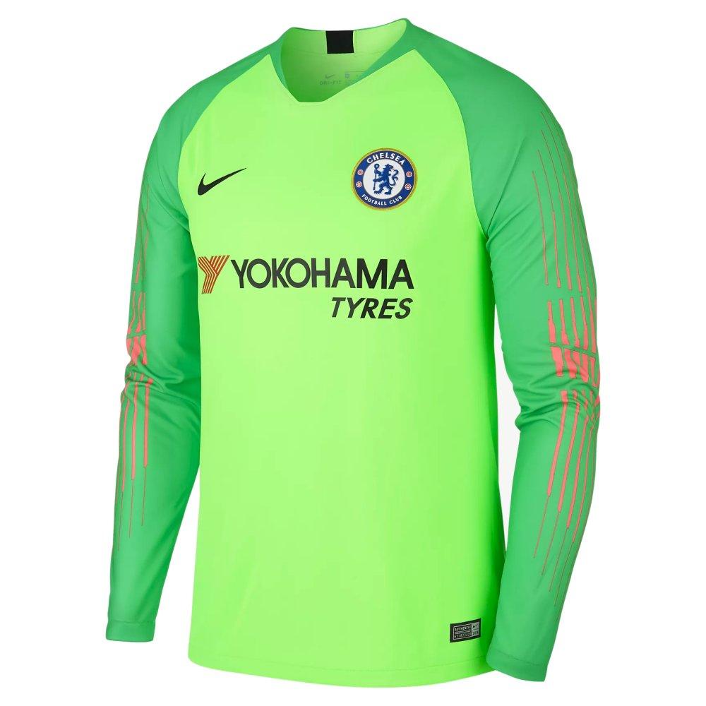 517c07a46 Chelsea Nike Green Kids Goalkeeper Shirt 2018 19