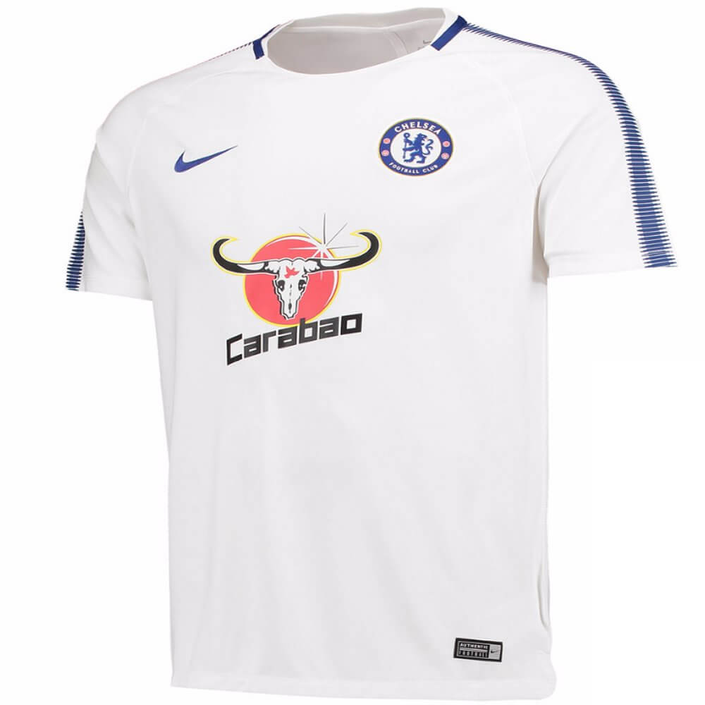 Chelsea Squad Training Top 2017 18 (White) - Official Nike Top 30cd5f83d