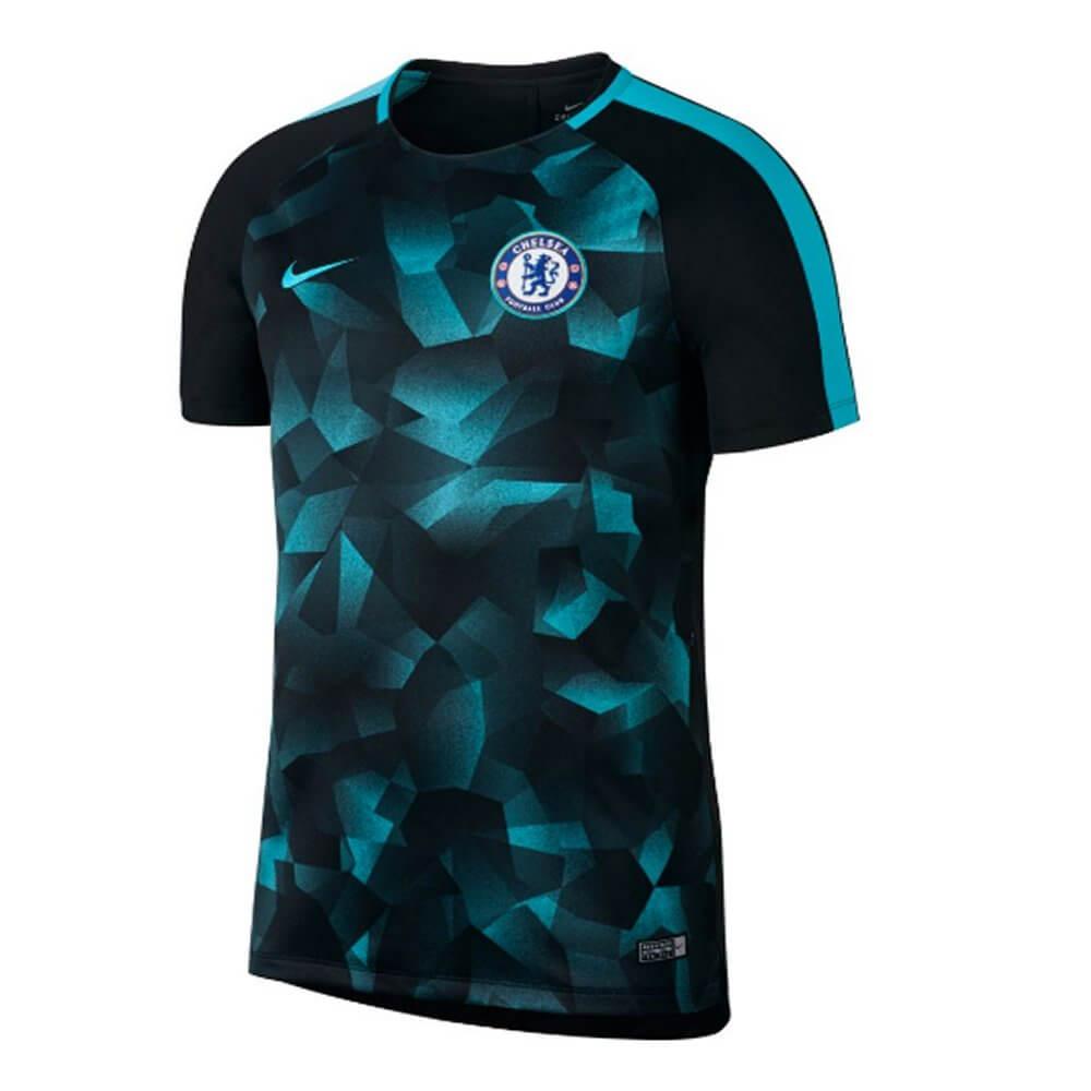 Chelsea Squad Training Top 2017 18 (Black Blue) - Order Now 8b5c4fd32