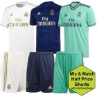 Real Madrid Adults Shirt and Shorts Bundle 2019/20
