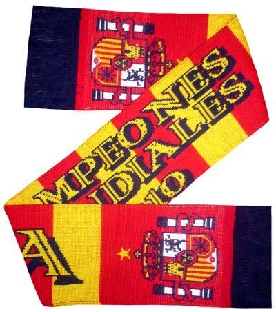 Spain Football Winners Scarf