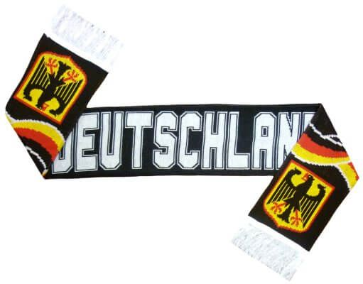 Germany Jacquard Football Scarf (Black)
