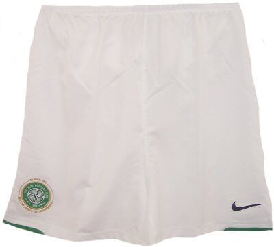 Celtic 2007-08 Home Football Shorts Childs