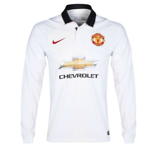 Manchester United Kids Boys Youth Long Sleeve Away Jersey 2014 - 2015