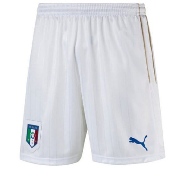 Italy Euro Home Football Shorts 2016-17