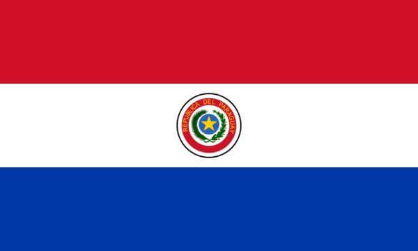 Paraguay Football Flag