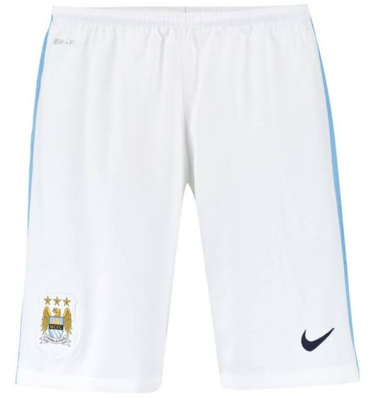 Manchester City Kids Home Shorts 2015 - 2016
