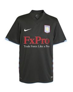 Aston Villa Boys Away Soccer Shirt 2010-11