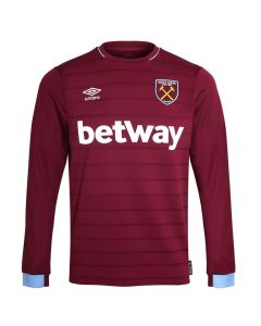 West Ham United Umbro Long Sleeve Home Shirt 2018/19 (Adults)