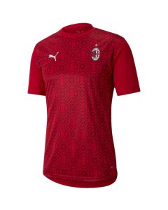 AC Milan 2020/21 red pre-match stadium top