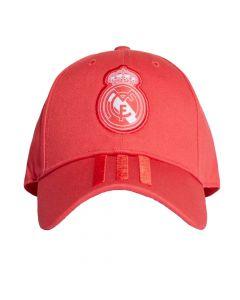 Adidas Real Madrid 3 Stripe Baseball Cap 2018/19 (Red)