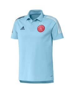 Ajax ice blue polo shirt 20/21