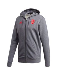 Arsenal grey 3-stripes hoodie 20/21