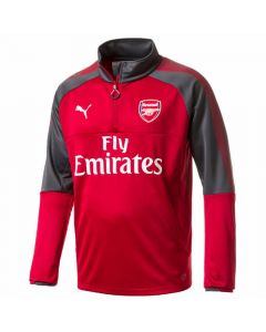 Arsenal Kids ¼ Zip Training Top 2017/18 (Red)