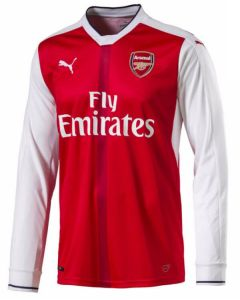 Arsenal Long-Sleeve Home Football Shirt 2016-17
