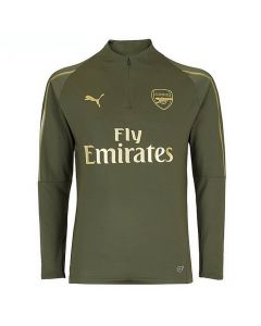 Arsenal Puma 1/4 Zip Green Training Top 2018/19 (Kids)