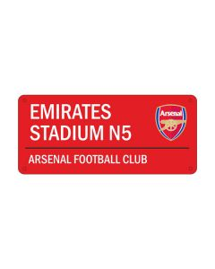 Arsenal Red Emirates Street Sign