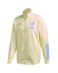 Arsenal 20/21 yellow Adidas presentation jacket