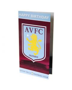 Aston Villa Birthday Card