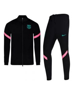 Barcelona Kids Black Strike Tracksuit 2020/21