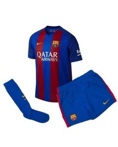 Barcelona Kids Home Football Kit 2016-17