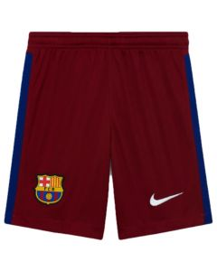 Barcelona kids red goalkeeper shorts 20/21