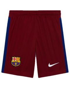 Barcelona kids red goalkeeper shorts 20/21