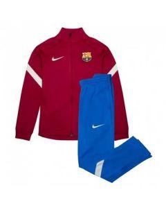 Barcelona Kids Red Strike Tracksuit 2021/22