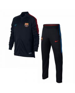 Barcelona Kids Squad Knit Tracksuit 2017/18 (Black)
