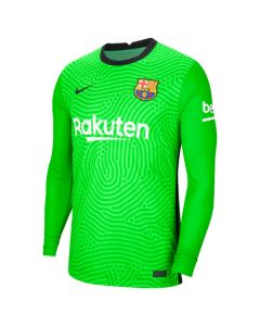 Barcelona junior green goalkeeper shirt 20/21