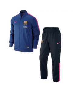 Barcelona Knit Warm-Up Tracksuit 2014 – 2015 (Blue)