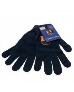 Barcelona Navy Knitted Gloves (Adults)