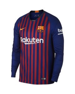 Barcelona Nike Long Sleeve Home Shirt 2018/19 (Adults)