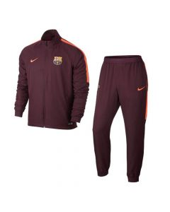 Barcelona Squad Woven Tracksuit 2017/18 (Maroon)
