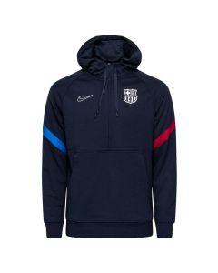 Barcelona 21/22 navy Nike travel hoodie