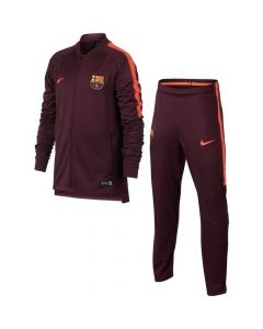 Barcelona Kids Squad Knit Tracksuit 2017/18 (Maroon)