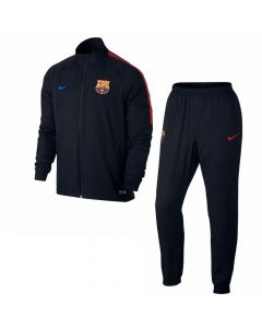 Barcelona Squad Woven Tracksuit 2017/18 (Black)