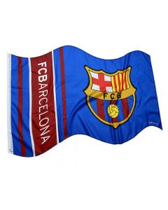 Barcelona Wordmark Stripe Flag