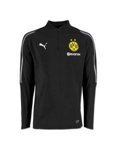 Borussia Dortmund Puma Black ¼ Zip Training Top 2018/19 (Adults)