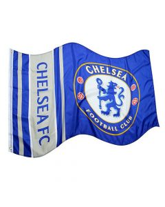 Chelsea Wordmark Stripe Flag