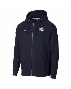Chelsea Nike Full-Zip Navy Hoodie 2018/19 (Adults)
