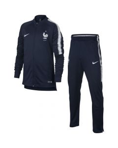 France Nike Navy Squad Tracksuit 2018/19 (Kids)