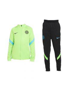 Inter Milan Kids Green Strike Tracksuit 2021/22