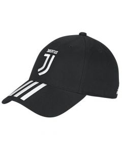 Juventus Black 3 Stripe Baseball Cap 2019/20